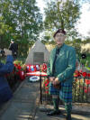 Gordon McLeod at the Cromwell Lock Memorial 27 September 2015.