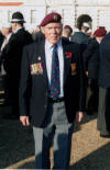 Remembrance Parade November 2011-Dougie Archibald proudly wearing his fathers medals