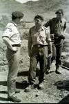 Visiting Officer, Lt. Allan Davidson and S/Sgt Paul Scoble Al-Milah 1965